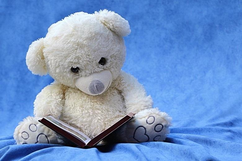 Ein Teddybär liest ein Buch. Symbolbild für die Lesetipps November 2016.